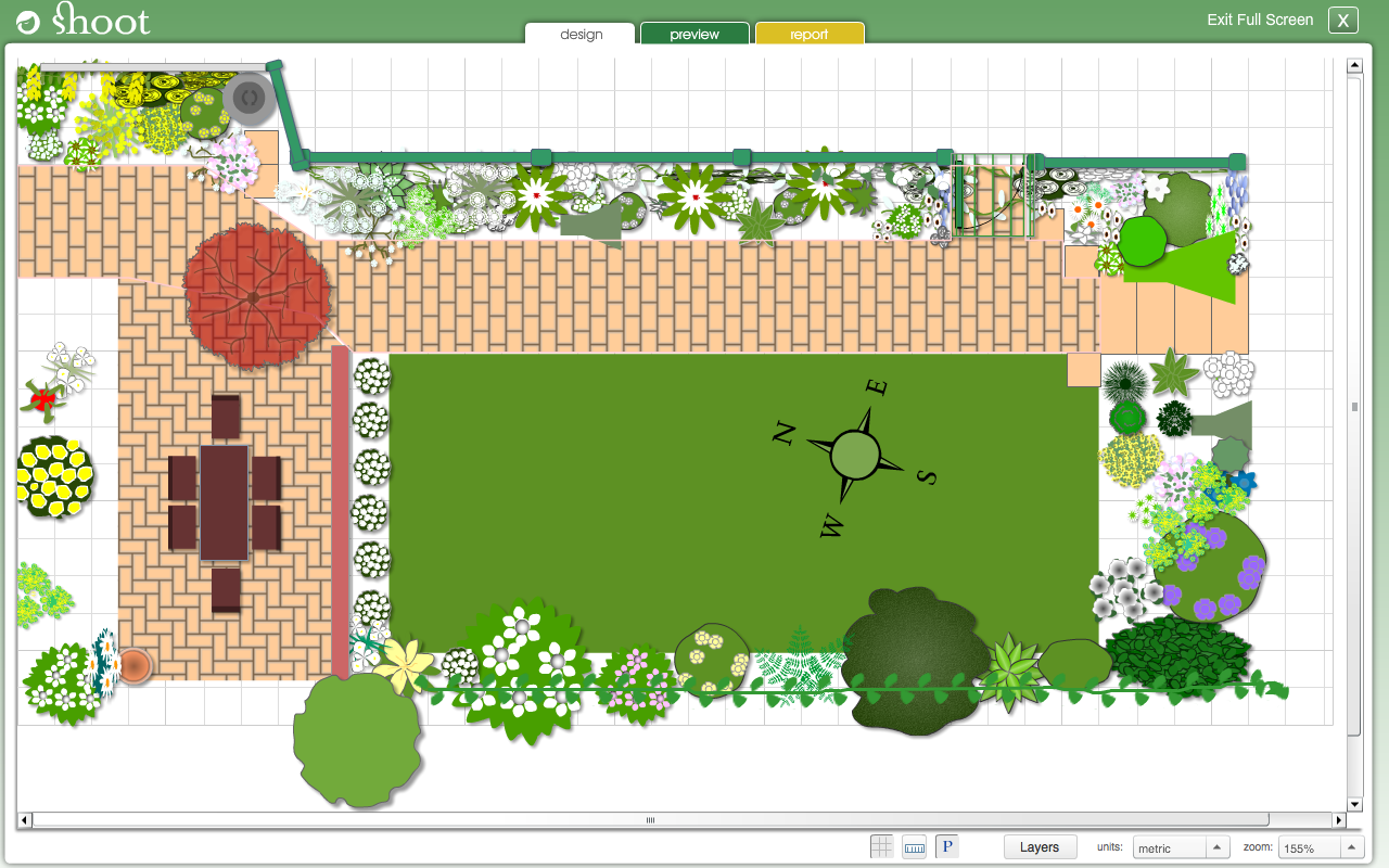 Garden Design Online fascinating colouful rectangle unique stone garden design online decoative mixed flowers plants and swimming poll ideas Garden Planner Screenshot