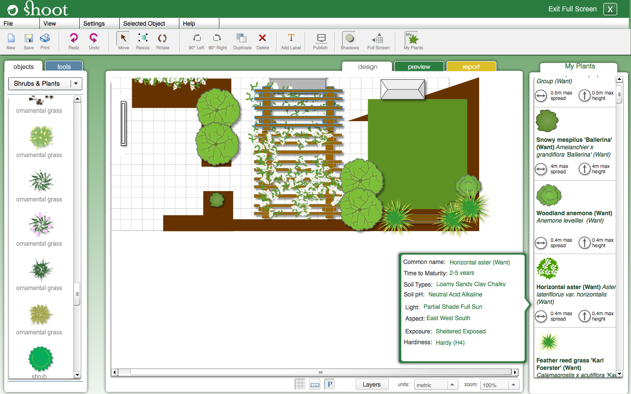 Free Garden Design Software garden design software garden landscaping design software free garden design goes online creative Garden Planner Screenshot
