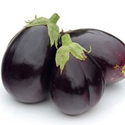 'Baby Belle F1' is a shrubby, prickly perennial with white flowers followed by shiny, round purple fruit. This is a dwarf variety forming an abundance jet black, small-sized fruits. Solanum melongena 'Baby Belle F1' added by Shoot)