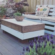 My garden lounge, hand built, recycled.... Added by Allison Mcintosh