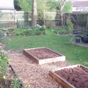 Garden in March (including new fruit/veg beds). Added by The Archers