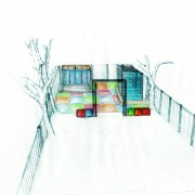 Perspective sketch by Judi Samuels Added by Judi Samuels Garden Design