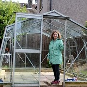 my greenhouse nearly p and running! Added by Susan White
