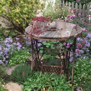 Recycled table in cottage garden beg Nov 19 Added by Botanic Jewels Design