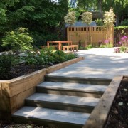 Steps up to decking Added by Andrea Newill Garden Design