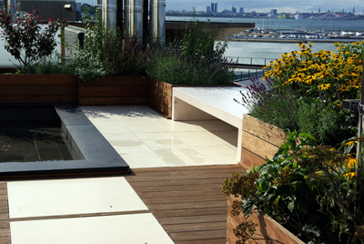 Beachside rooftop garden