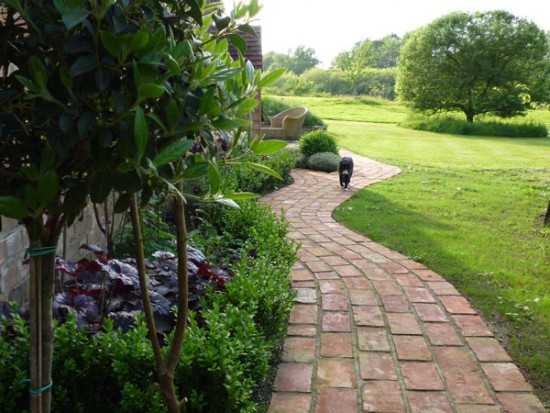 A new cottage path garden by london garden designer claudia de yong