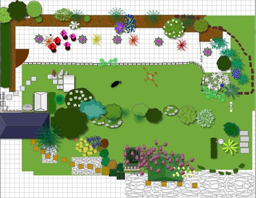 Backyard Garden Design Tool : Patricias garden design using Shoots garden design software