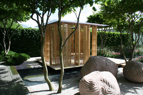 The Laurent Perrier Garden Nature and Human Intervention by garden designer Luciano Giubbilei Chelsea Flower Show 2011