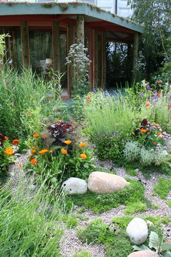 The SKYshades Wild Office by garden designer Marney Hall Chelsea Flower Show 2011