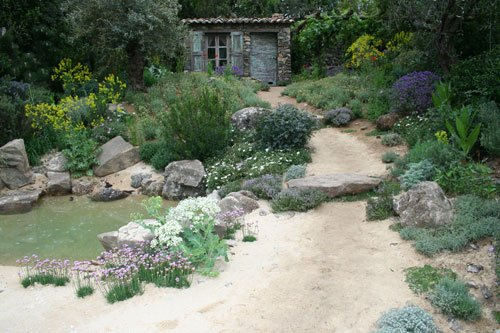 RHS Chelsea Flower Show 2012 The L'Occitane Immortelle Garden designed by Peter Dowle