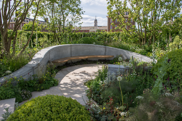 The Jo Whiley Scent Garden By garden designer Tamara Bridge.