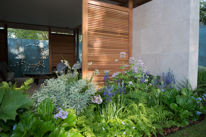 The Morgan Stanley Garden for the NSPCC Chelsea Flower Show 2018 by garden designer Chris Beardshaw