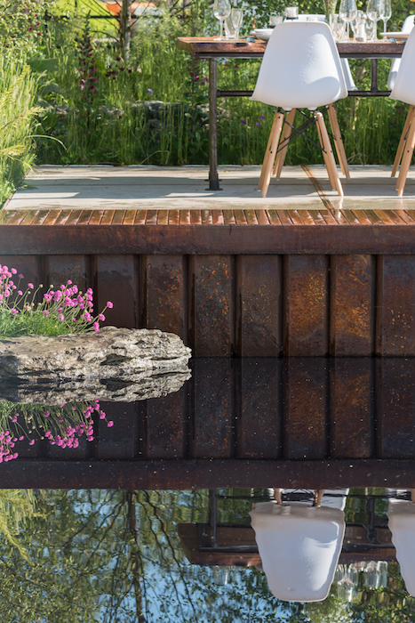 The Sustainable seafood garden by Ireland based garden designer Andrew Christopher Dunne