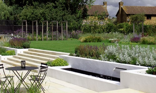 Barn Conversion Contemporary Family Garden