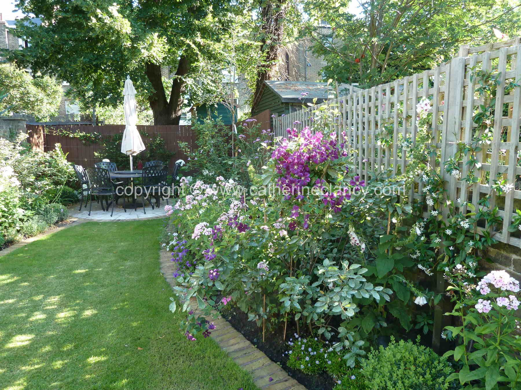 Victorian north facing garden shoot for Victorian garden trees