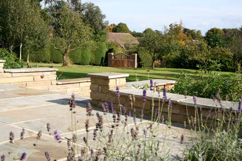 Large family garden in Surrey by Hampshire garden designer Janet Bligh