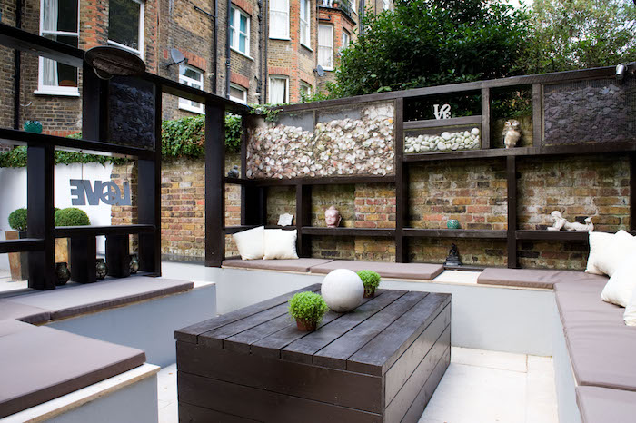Contemporary Modern Garden Design in West London By garden designer Katrina Kieffer-Wells of Earth Designs