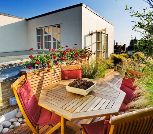 Olive Bay roof garden, roof terrace