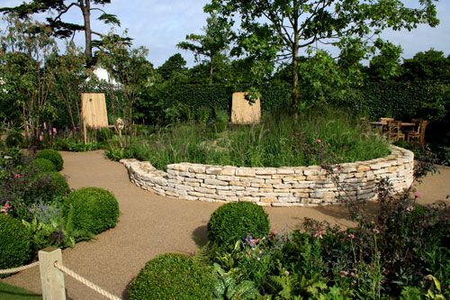 Hampton Court Flower Show 2010 The Combat Stress Therapeutic Garden