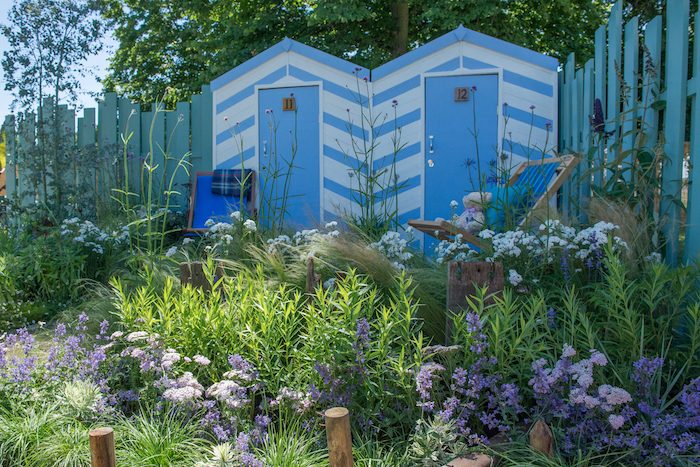 By garden designers James Callicott and Tony Wagstaff. Inspired by the coastline of Southend-on-Sea, the pier and the surrounding beach, the Southend Council 'By The Sea' garden offers a peaceful idyll situated by the coast.
