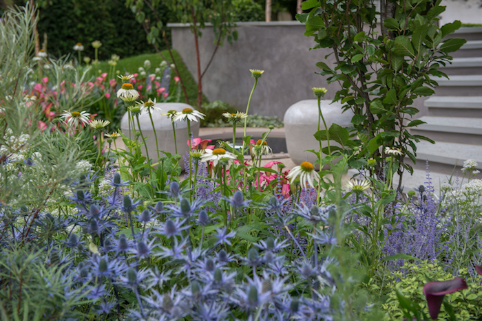 The garden, On The Edge, has been designed by RHS Chelsea Flower Show Gold Winner Frederic Whyte and built by Charles Benton, of co-sponsors Benton Landscapes.