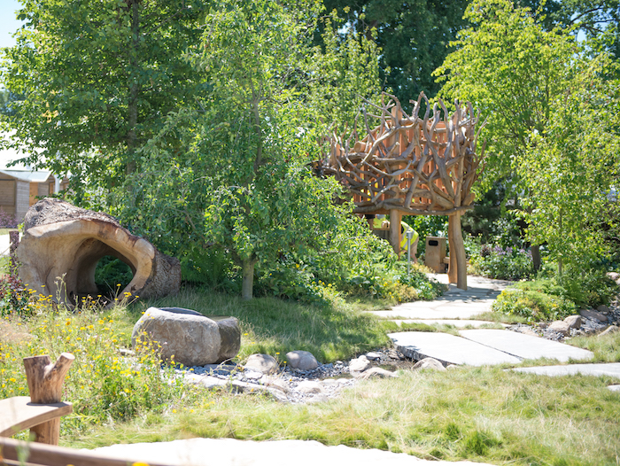 Zoflora and Caudwell Children's Wild Garden Designed by garden designers Adam White & Andrée Davies