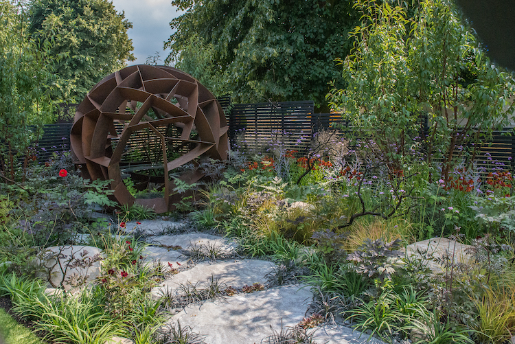 Elements Mystique Garden RHS Hampton Court Flower Show 2018 by garden designer Lawrence Roberts