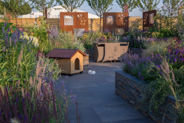 The RNIB Community Garden Hampton Court Flower Show 2018 designed by Steve Dimmock & Paula Holland