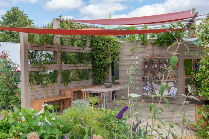 The Year of Green Action Garden RHS Hampton Court Flower Show 2019 by Helen J Rosevear and Jane Stoneham garden designers