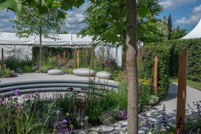 The Cancer Research UK Pledge Pathway to Progress Garden for Hampton Court Flower Show by Tom Simpson