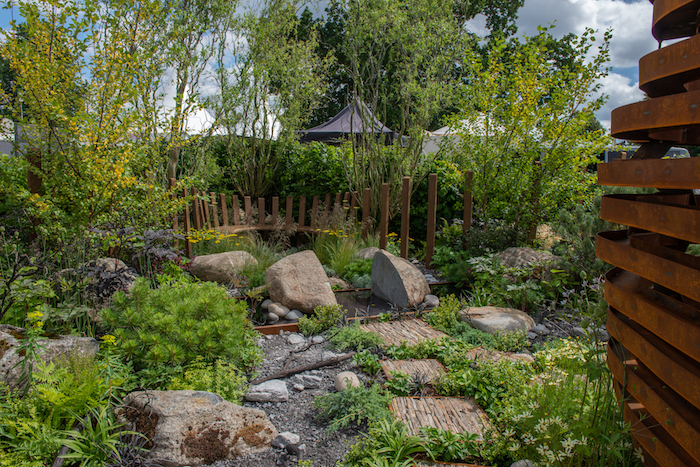 Through Your Eyes Garden RHS Hampton Court Flower Show 2019 By garden designer Lawrence Roberts