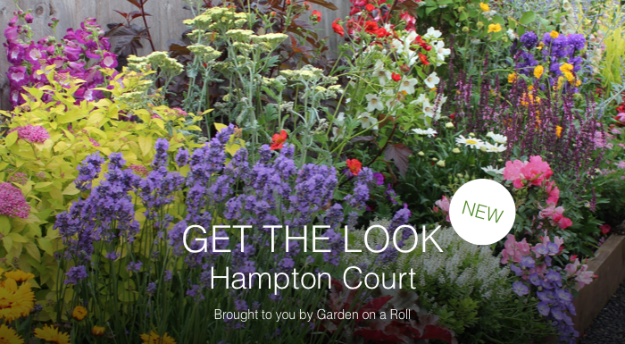 Get the look 'planting by numbers' border with Garden on a Roll Ltd inspired by Hampton Court Flower Show gardens