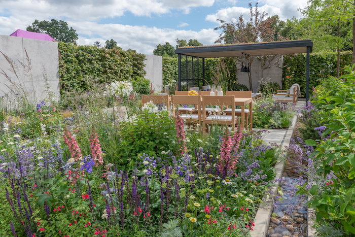 'The Viking Cruises Lagom Garden' RHS Hampton Court Flower Show 2019 by Will Williams