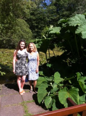 St Andrews Botanic Garden (Emma and my wife Carolyn)