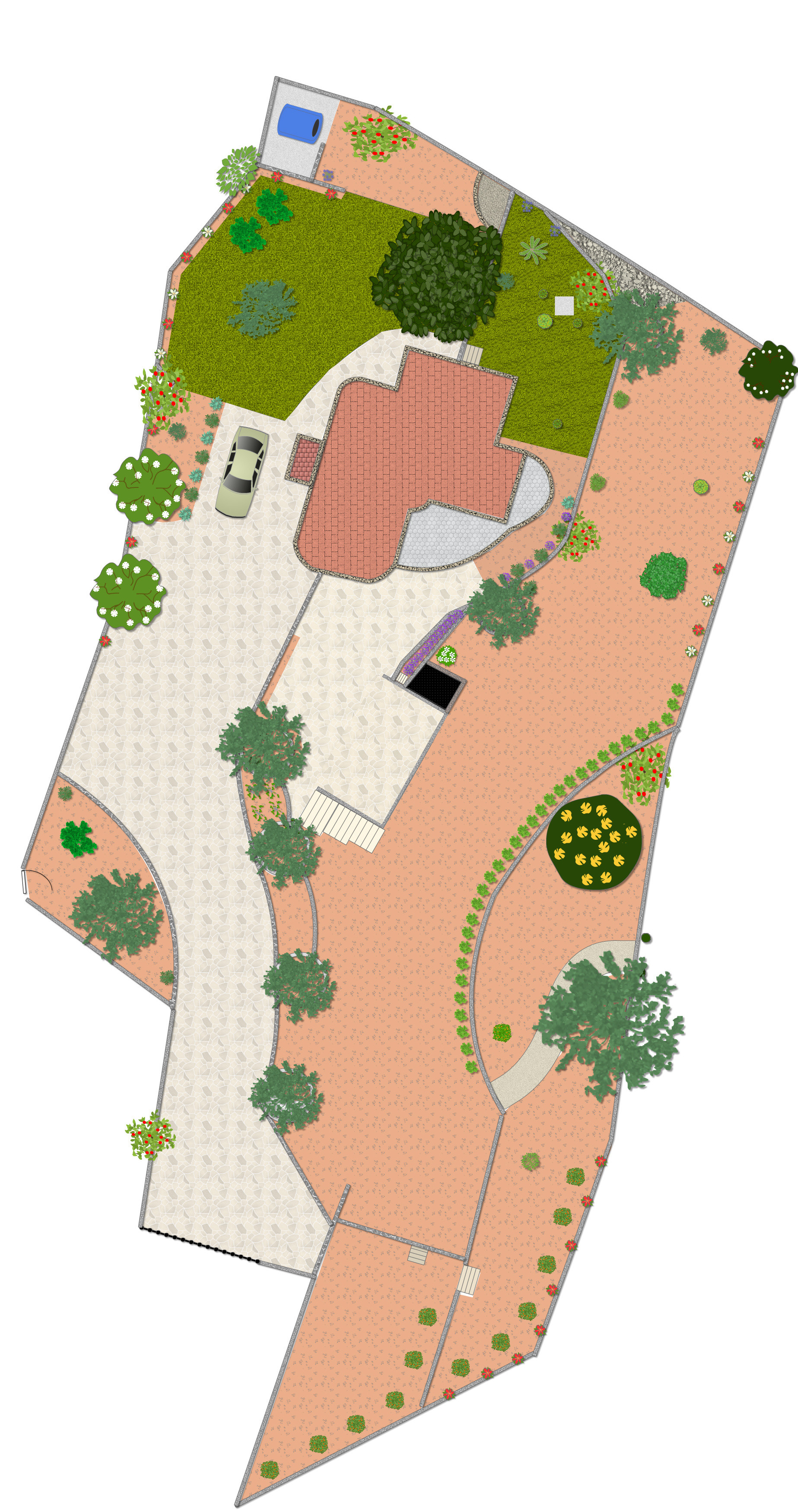 Simon's garden plan using Shoot garden design software