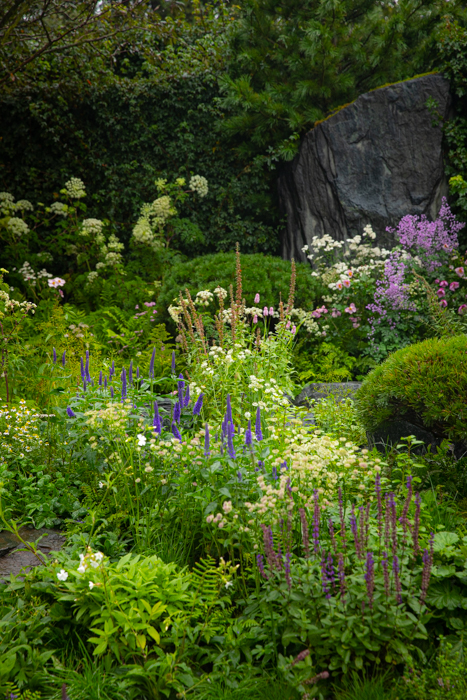Chelsea Flower Show 2021: Show gardens: Show gardens: 60°EAST a Garden between Continents Designed by Ekaterina Zasukhina with Carly Kershaw