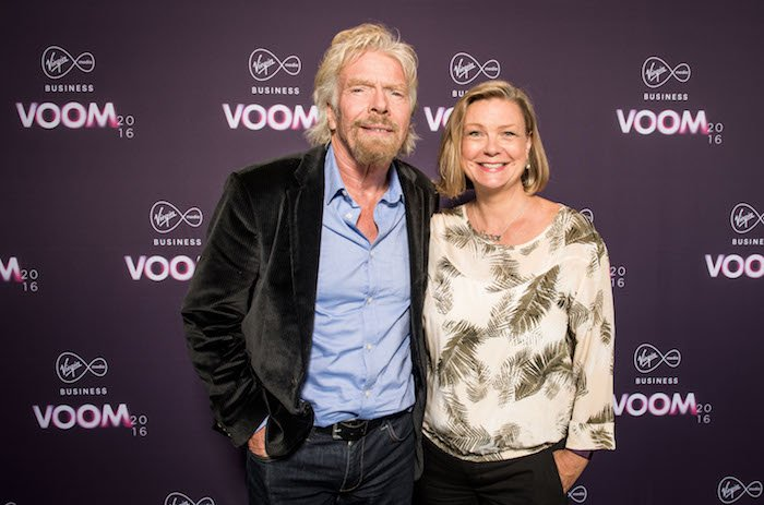 Richard Branson Virgin VOOM and Nicola Gammon Founder of Shoot
