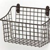 sourcing rectangular wire wall basket